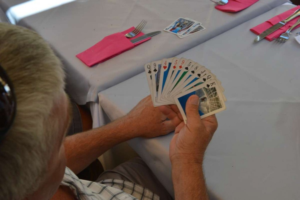 Mit dieser Hand kann man nur für PIK gehen. Mit den hohen PIK Karten starten und dann hoffen, das den anderen das PIK ausgeht und die kleinen PIK Karten so gewinnen.