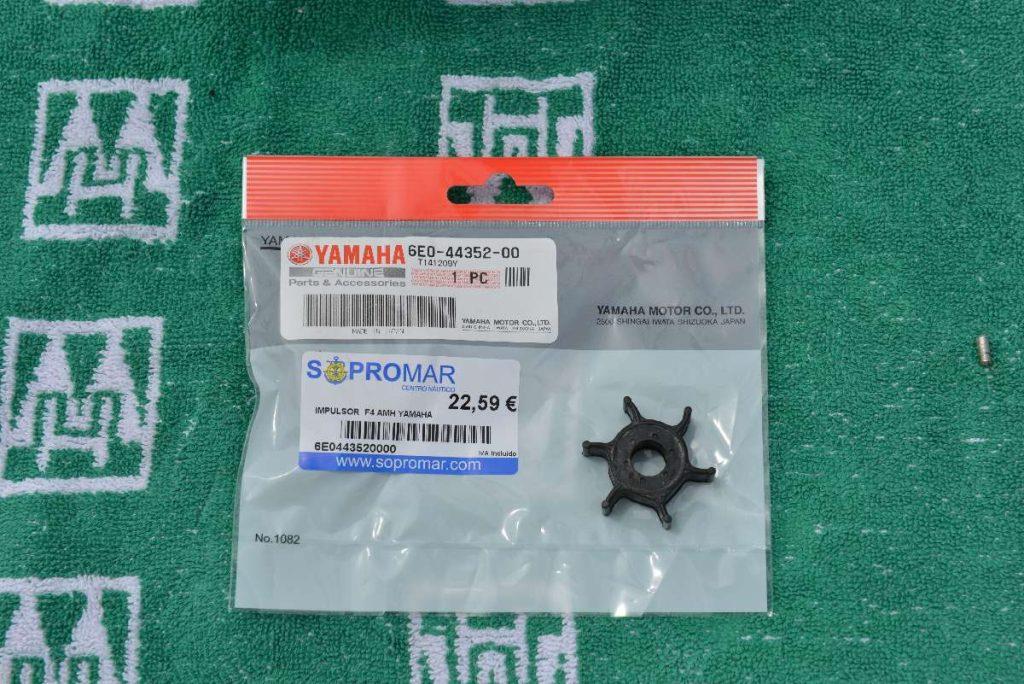 YAMAHA Teilenummer für den Impeller des YAMAHA F6 CMHS 6E0-44352-00